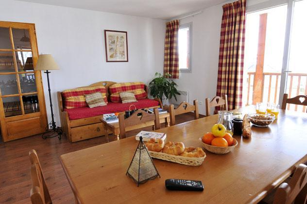 Location au ski Appartement 2 pièces cabine 6 personnes - Le Hameau De Balestas - Peyragudes - Coin repas