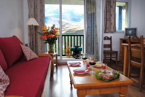 Location au ski Le Hameau De Balestas - Peyragudes - Coin séjour