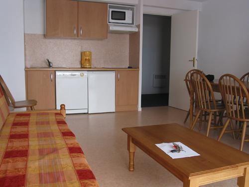 Location au ski Appartement 3 pièces cabine 8 personnes - Residence Royal Peyragudes - Peyragudes - Kitchenette