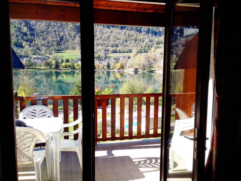 Аренда на лыжном курорте Résidence la Soulane - Peyragudes - Французское окно выходящее на балкон