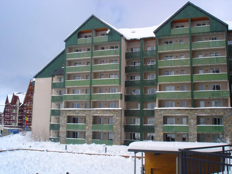 Wynajem na narty Apartament 2 pokojowy 6 osób (20A) - Résidence les Balcons du Soleil - Peyragudes - Zima na zewnątrz