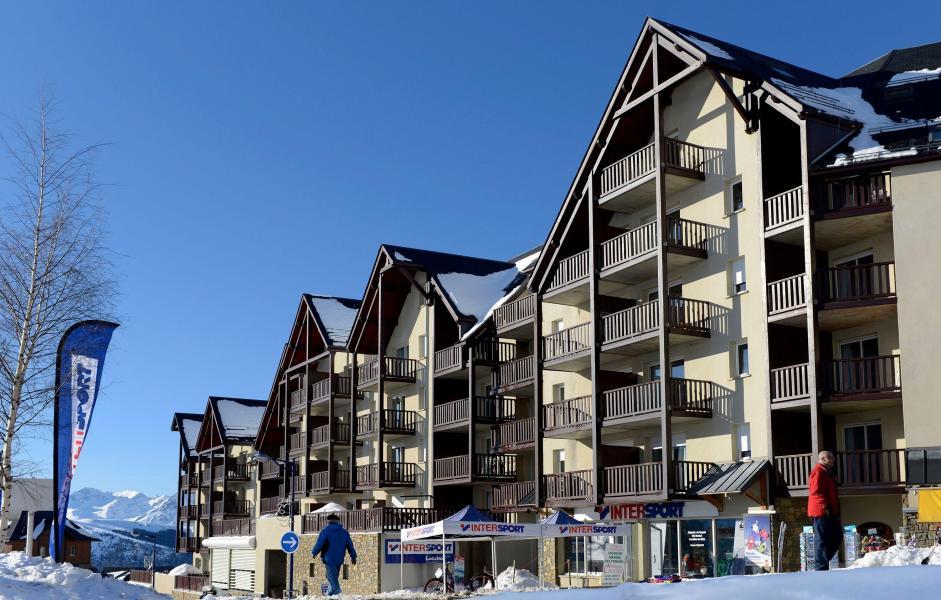 Location au ski Résidence les Hauts de Peyragudes - Peyragudes - Extérieur hiver