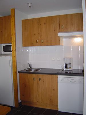 Location au ski Studio cabine 4 personnes - Le Hameau De Balestas - Peyragudes - Kitchenette