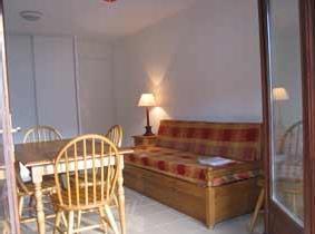 Location au ski Studio 4 personnes - Residence La Soulane - Peyragudes - Coin séjour