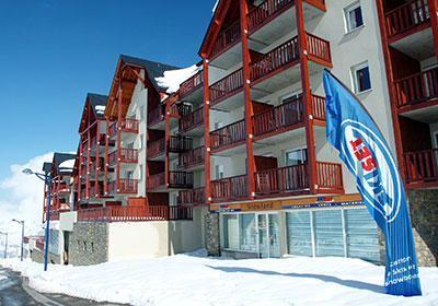 Location au ski Residence Les Hauts De Peyragudes - Peyragudes - Extérieur hiver
