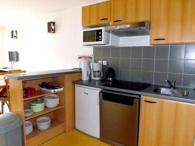 Rent in ski resort 2 room apartment 6 people (05) - Résidence les Terrasses de Peyragudes - Peyragudes - Kitchen