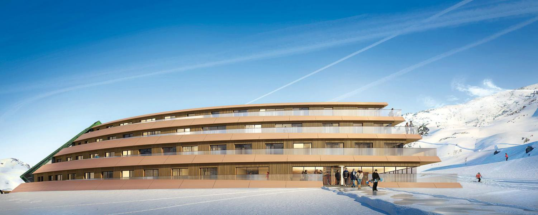 Location au ski Résidence Lagrange l'Ecrin du Badet - Piau Engaly - Extérieur hiver