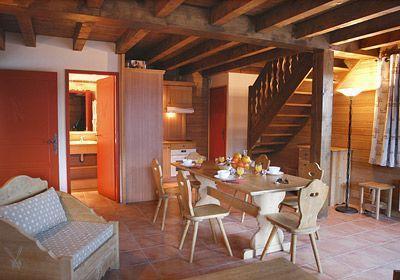 Location au ski Appartement 3 pièces cabine 7-8 personnes - Le Hameau De Praroustan - Pra Loup - Séjour