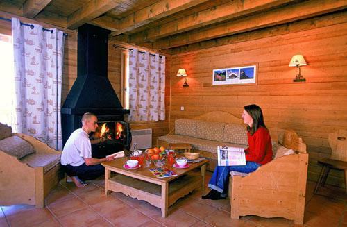 Location au ski Chalet 4 pièces cabine 10 personnes - Le Hameau De Praroustan - Pra Loup - Séjour