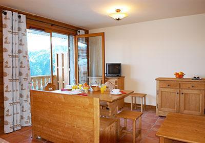 Location au ski Le Hameau De Praroustan - Pra Loup - Coin repas