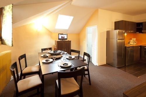 Rent in ski resort 3 room duplex apartment 6 people (Residence) - Le Château des Magnans - Pra Loup - Dining area