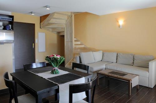 Rent in ski resort Le Château des Magnans - Pra Loup - Living room