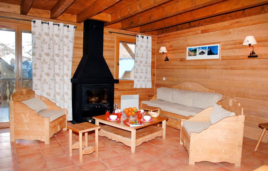 Location au ski Le Hameau de Praroustan - Pra Loup - Séjour