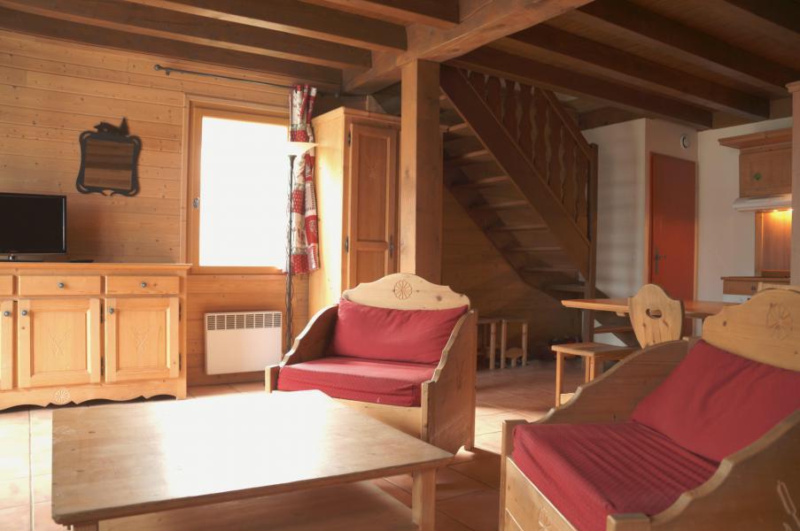 Location au ski Chalet 4 pièces 8-10 personnes - Les Chalets de Pra Loup 1500 - Pra Loup - Séjour