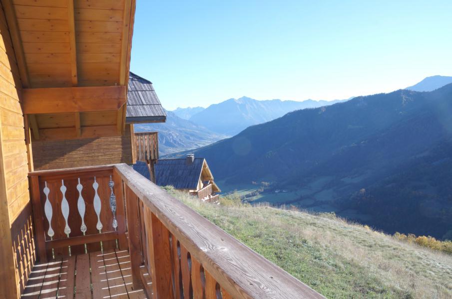 Location au ski Chalet 5 pièces 12 personnes - Les Chalets de Pra Loup 1500 - Pra Loup - Balcon