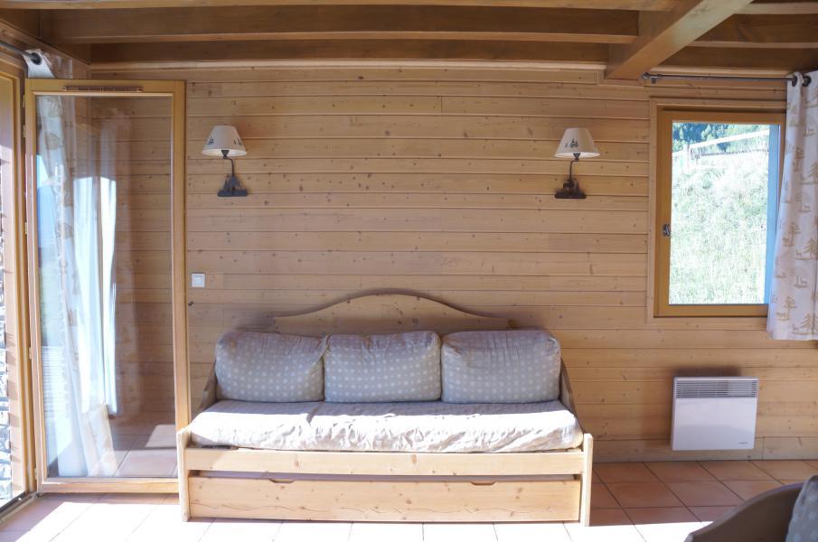 Location au ski Chalet 5 pièces 12 personnes - Les Chalets de Pra Loup 1500 - Pra Loup - Canapé-lit