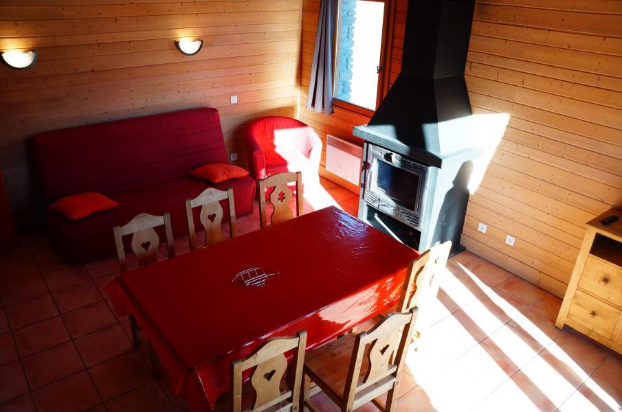 Location au ski Chalet semi-individuel 3 pièces 6 personnes - Les Chalets de Pra Loup 1500 - Pra Loup - Séjour