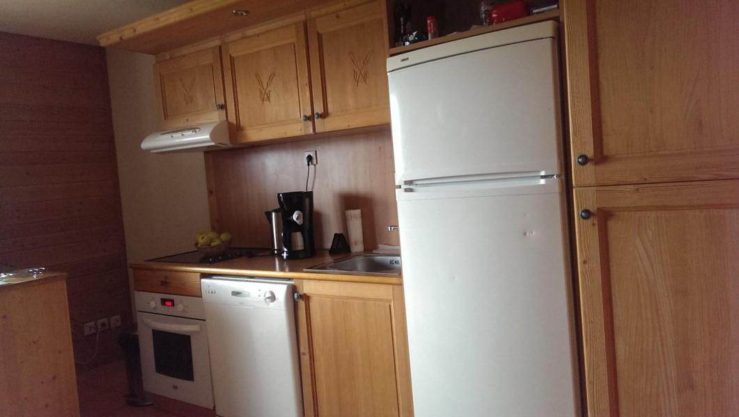 Rent in ski resort 3 room apartment sleeping corner 8 people (G3) - Les Chalets de Praroustan - Pra Loup - Kitchenette