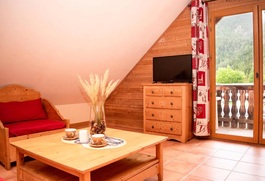 Аренда на лыжном курорте Апартаменты 2 комнат с мезонином 6 чел. (F201) - Résidence Les Chalets de Praroustan - Pra Loup