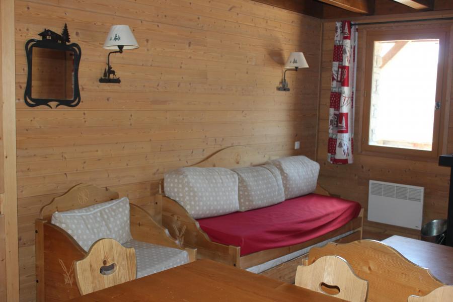 Skiverleih Résidence les Chalets de Praroustan - Pra Loup - Wohnzimmer