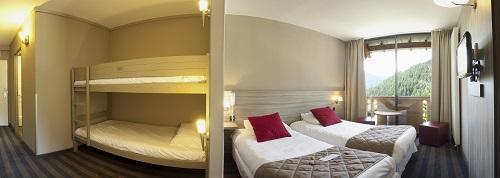 Location au ski Chambre familiale - Supérieure (2 adultes + 2 enfants 3/11 ans) - Les Bergers Resort Hotel - Pra Loup - Chambre