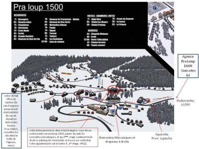 Аренда на лыжном курорте Logement 1 pièces 6 personnes (BER-II-422-SD) - Résidence la Bérangère II - Pra Loup