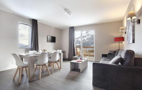 Rent in ski resort Résidence le Village de Praroustan - Pra Loup - Living room