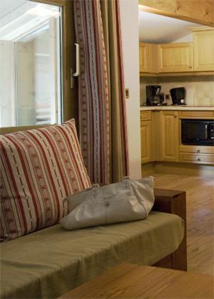 Location au ski Appartement 3 pièces 6 personnes (BCF) - Residence Les Jardins De La Vanoise - Pralognan-la-Vanoise - Coin séjour