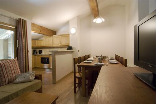 Location au ski Appartement 3 pièces coin montagne 8 personnes (BCT) - Residence Les Jardins De La Vanoise - Pralognan - Séjour