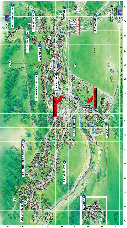 Ski verhuur Chalet la Bourna de l'Ors - Pralognan-la-Vanoise - Kaart