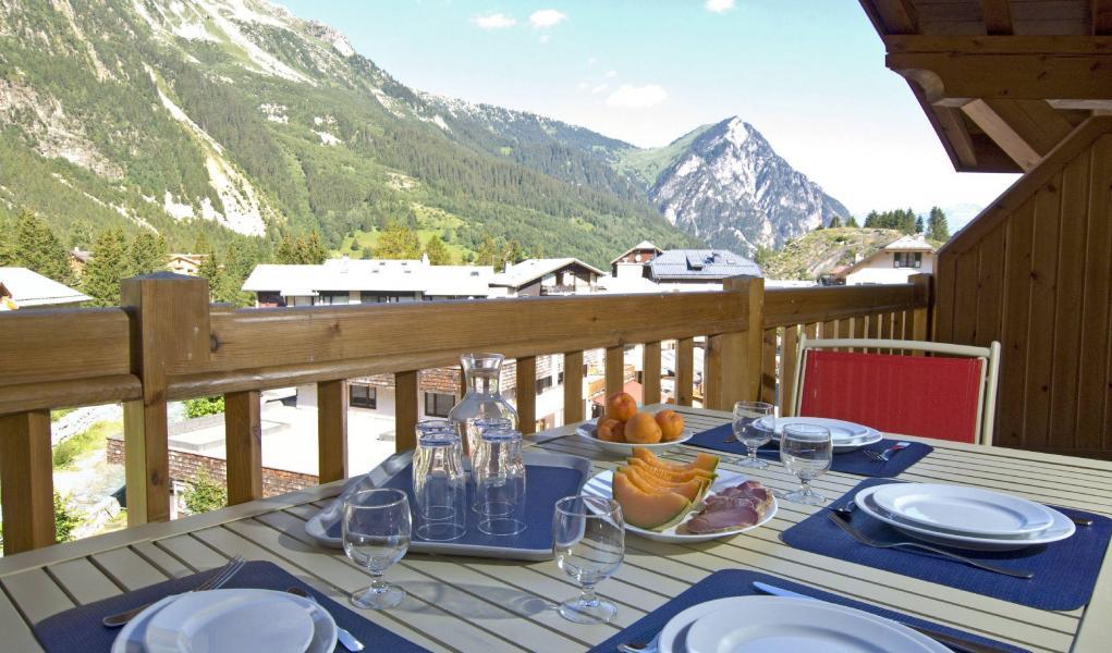Alquiler al esquí Résidence les Jardins de la Vanoise - Pralognan-la-Vanoise - Terraza