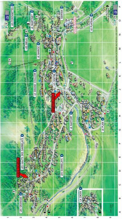 Rent in ski resort Chalet la B'Zeille - Pralognan-la-Vanoise - Plan
