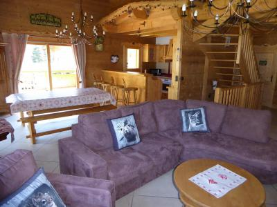 Rent in ski resort 6 room mezzanine apartment 10 people - Chalet le Flocon - Pralognan-la-Vanoise - Living room