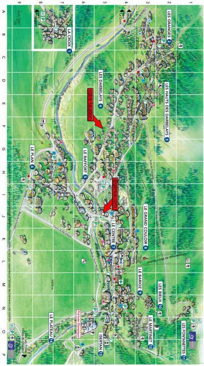 Rent in ski resort Chalet les Gentianes Bleues - Pralognan-la-Vanoise - Plan
