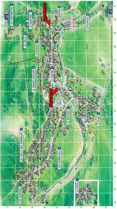 Rent in ski resort Résidence la Ferme de Pralognan - Pralognan-la-Vanoise - Plan