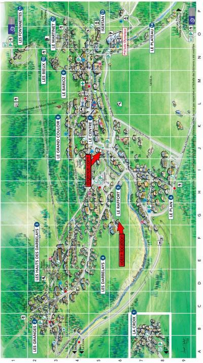 Rent in ski resort Résidence les Aroles - Pralognan-la-Vanoise - Plan