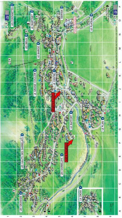 Rent in ski resort Résidence les Balcons de Villeneuve - Pralognan-la-Vanoise - Plan