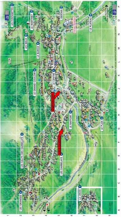 Rent in ski resort Résidence les Crêtes - Pralognan-la-Vanoise - Plan
