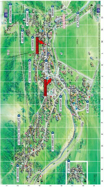 Rent in ski resort Résidence les Mélèzes - Pralognan-la-Vanoise - Plan