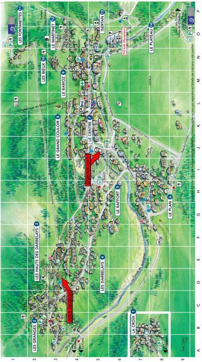 Rent in ski resort Résidence les Myrtilles - Pralognan-la-Vanoise - Plan