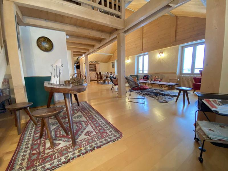 Аренда на лыжном курорте Апартаменты 5 комнат с мезонином 8 чел. (002) - Chalet le Pré Joli - Praz sur Arly - Салон