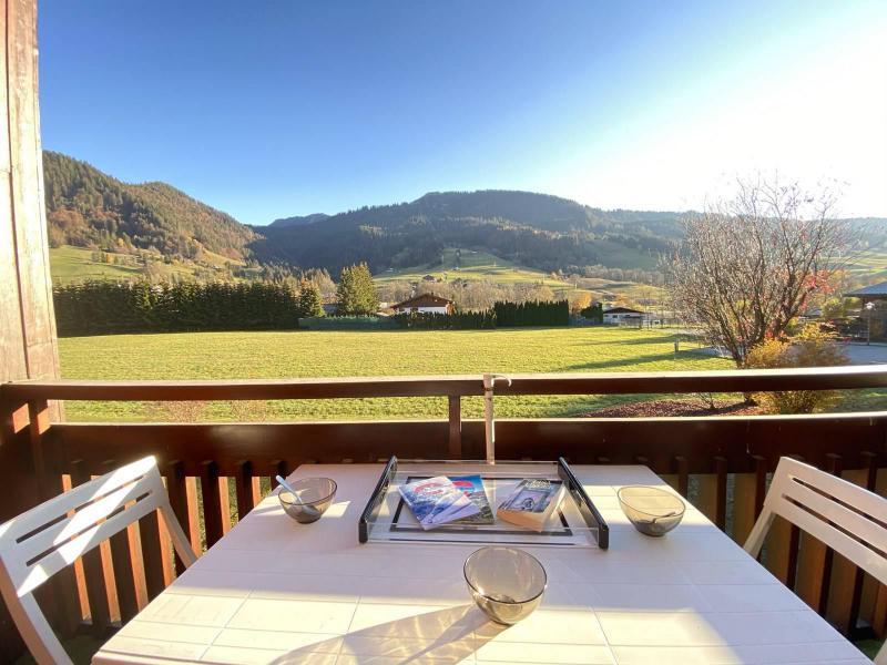 Аренда на лыжном курорте Квартира студия со спальней для 4 чел. (01G) - Résidence le Clos d'Arly - Praz sur Arly - Балкон