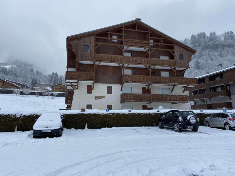 Аренда на лыжном курорте Апартаменты 3 комнат 6 чел. (222) - Résidence les Alpages - Praz sur Arly - зимой под открытым небом
