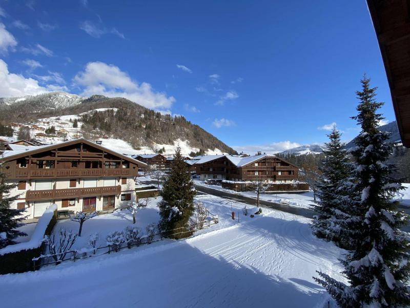 Аренда на лыжном курорте Квартира студия кабина для 4 чел. (210) - Résidence les Ecrins - Praz sur Arly - зимой под открытым небом