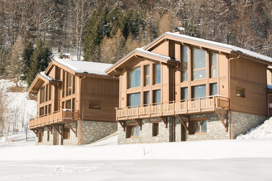 Ski verhuur Résidence Les Portes de Megève - Praz sur Arly - Buiten winter