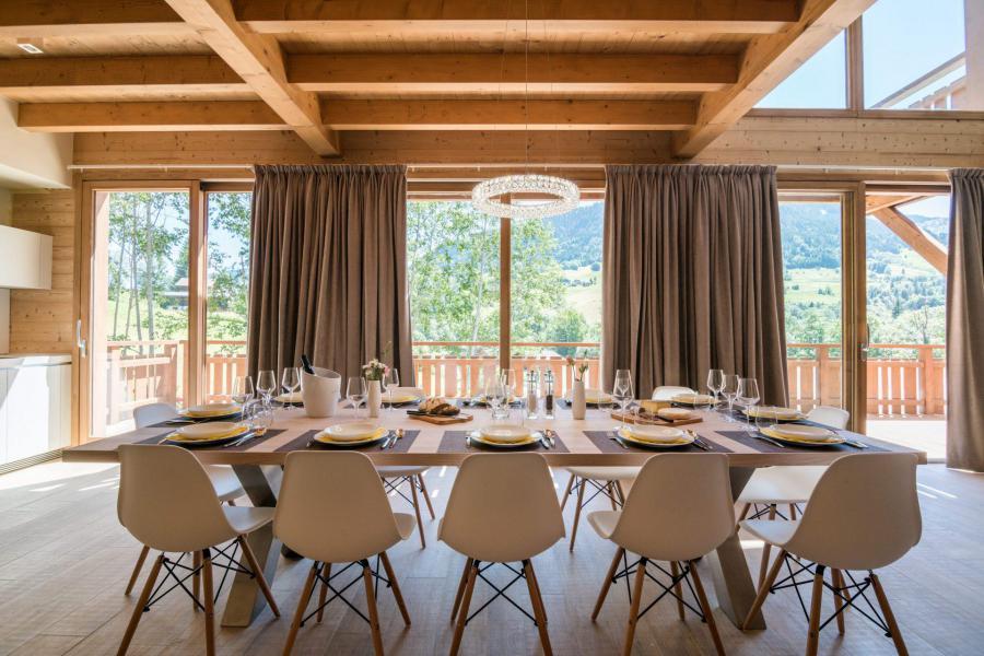 Location au ski Résidence Les Portes de Megève - Praz sur Arly - Coin repas