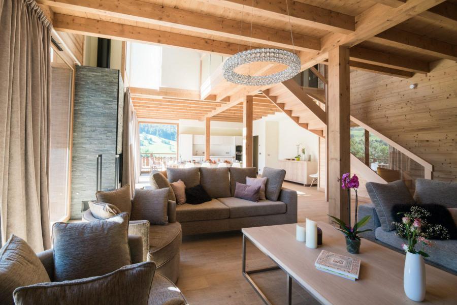 Аренда на лыжном курорте Résidence Les Portes de Megève - Praz sur Arly - Салон