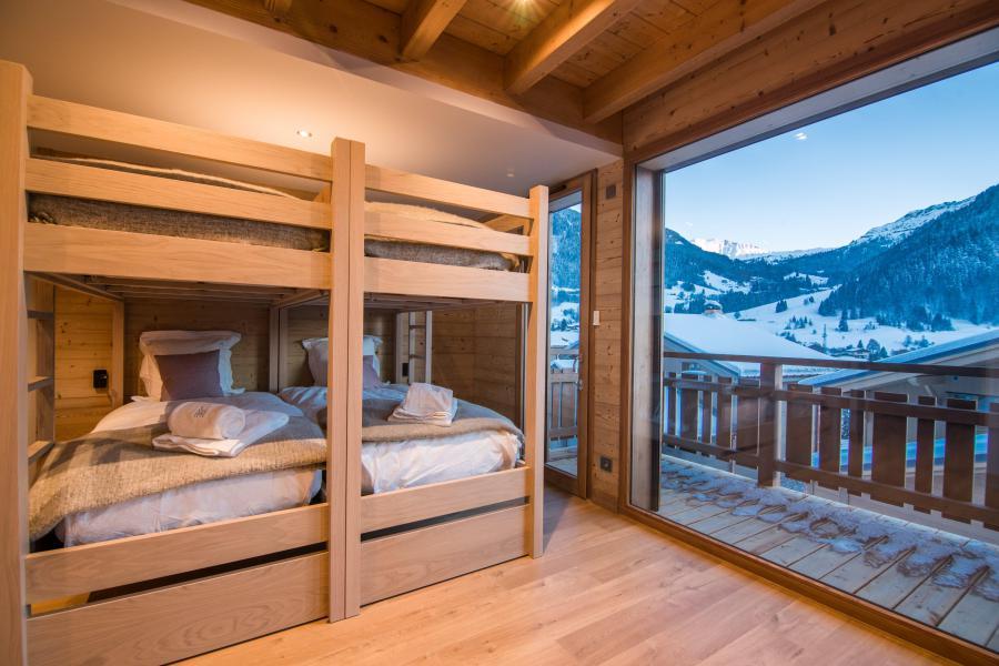 Ski verhuur Résidence Les Portes de Megève - Praz sur Arly - Stapelbedden