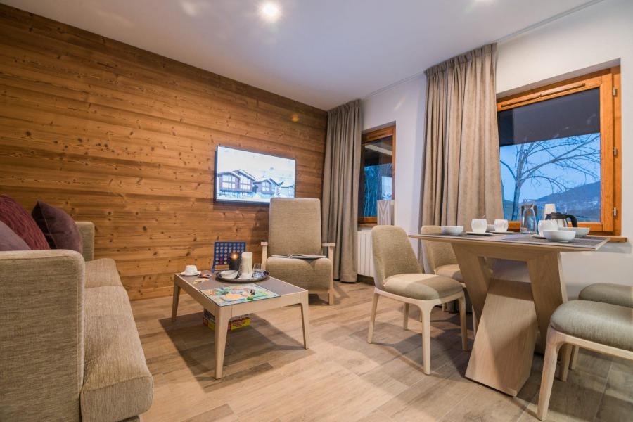 Ski verhuur Résidence Les Portes de Megève - Praz sur Arly - Zitbank