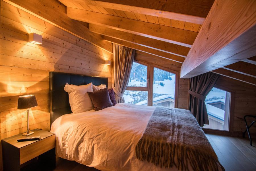 Ski verhuur Résidence Les Portes de Megève - Praz sur Arly - Zolderkamer